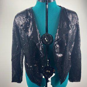 NWOT Sequin Open Front Jacket